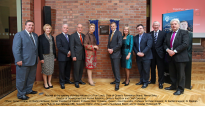 Opening of Riddel Hall with caption