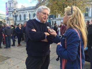 speaking-to-bbc-news-ni-about-junior-doctor-contract-protest